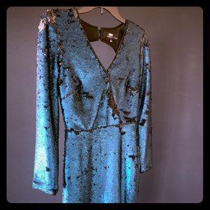 Sequin turquoise dress